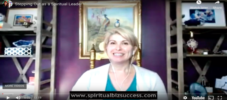 Stepping Out As a Spiritual Leader